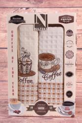 Kuchynské utierky v darčekovom balení COFFEE 2 (2 ks 50x70 cm)
