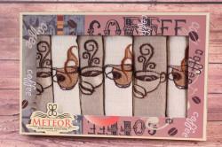 Kuchynské utierky v darčekovom balení COFFEE 2 (6 ks 30x50 cm)