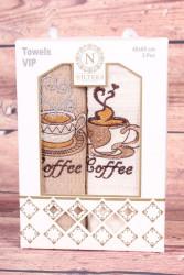 Kuchynské utierky v darčekovom balení COFFEE (2 ks 40x60 cm)