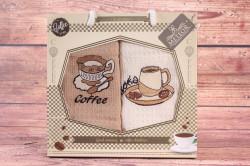 Kuchynské utierky v darčekovom balení METEOR - COFFEE 5 (2 ks 40x60 cm)