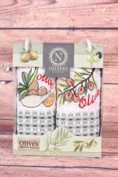 Kuchynské utierky v darčekovom balení OLIVE (2 ks 35x50 cm)