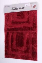 Kúpeľňová dvojdielna súprava (50x80 cm,50x40 cm) - bordová