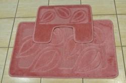 Kúpeľňová súprava dvojdielna - staroružová (50x80 cm)