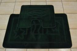 Kúpeľňová súprava dvojdielna - tmavozelená (60x100 cm)