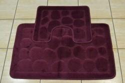 Kúpeľňová súprava dvojdielna - vínová (50x80 cm)