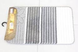Kúpeľňová súprava SYMBOL-STRIPE ANEMON (01-41-40) - sivo-biely (50x80 cm)