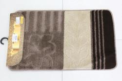 Kúpeľňová súprava SYMBOL-STRIPE ARALIA (15-10-17) - staroružovo-béžový (50x80 cm)