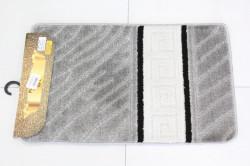 Kúpeľňová súprava SYMBOL-STRIPE GREEK ACILAY (40-39-42-40) - sivý (50x80 cm)