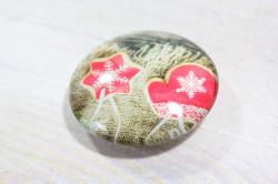 Magnetka s vianočným vzorom (p. 4 cm) 11.