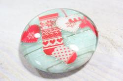 Magnetka s vianočným vzorom (p. 4 cm) 5.
