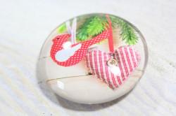 Magnetka s vianočným vzorom (p. 4 cm) 7.