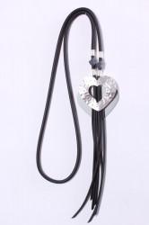 Náhrdelník VZOR 11. - sivo-strieborný (67 cm)