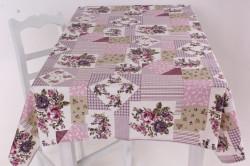 Obrus bavlnený (120x140 cm) - fialovo-ružový