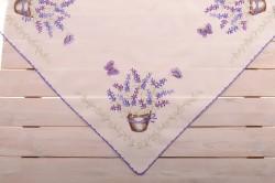Obrus celoročný s fialovým lemom (85x85 cm)