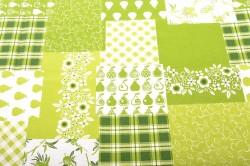 Obrus vzorovaný (140x180 cm) - zeleno-biely
