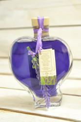 Olej do kúpeľa LEVANDUĽA v tvare srdca (200 ml)