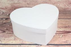 Ozdobná krabica - bledoružové SRDCE (19,9x7x17,5 cm)