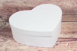 Ozdobná krabica - bledoružové SRDCE (22x8,5x20 cm)