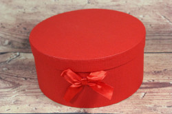 Ozdobná krabica - červená (p. 19 cm, v. 11 cm)