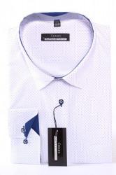 Pánska bodkovaná košeľa MARTEX CLASSIC - modro-biela