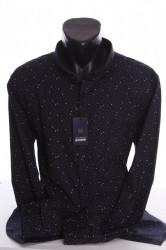 Pánska elastická košeľa VZOR 03. - tmavomodrá 809b1df9707