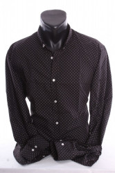 Pánska elastická košeľa vzorovaná VZOR 06. - čierna P379