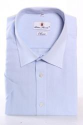 Pánska jemne vzorovaná košeľa PIETRO MONTI CLASSIC - bledomodrá