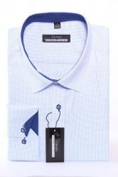 Pánska kockovaná košeľa MARTEX CLASSIC - modro-biela