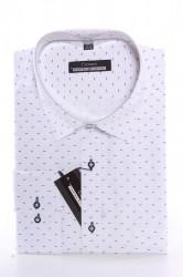 Pánska košeľa CENZO CLASSIC vzorovaná 1. - biela (v. 176-182 cm)