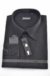 Pánska košeľa - čierna P6