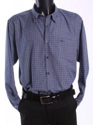 Pánska košeľa kockovaná - modro-biela