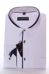 Pánska košeľa MARTEX s tmavomodrým lemom
