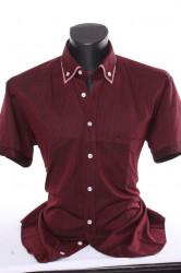 Pánska košeľa pásikavá s kockovaným lemom CLASSIC