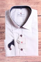 Pánska košeľa PIETRO MONTI SLIM-s tmavomodrým lemom-biela s dlhým r. (v. 188-194 cm