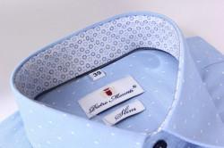 Pánska košeľa s bodkami PIETRO MONTI SLIM - bledomodrá #1