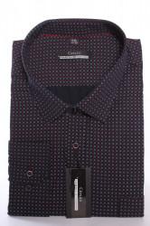 Pánska košeľa s červeno-bielym vzorom MARTEX CLASSIC - tmavomodrá