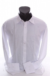 Pánska košeľa s dlhým rukávom SLIM FIT - biela