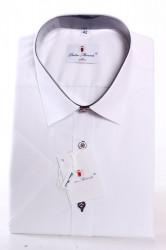 Pánska košeľa s farebnými gombíkmi PIETRO MONTI CLASSIC - biela
