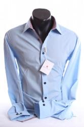 Pánska košeľa s kockovaným vzorom SLIM (176-182 cm)