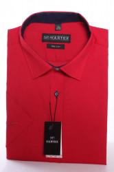 Pánska košeľa s krátkym rukávom MARTEX SLIM LINE - červená
