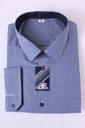 Pánska košeľa VZOR 2. - tmavomodro-biela
