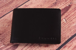 Pánska kožená peňaženka Bugatti 49107901 ( 12x2x9 cm) - čierna