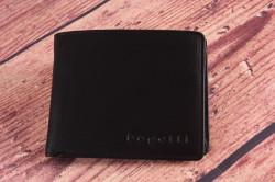 Pánska kožená peňaženka Bugatti 49108101 (10,5x2x9 cm) - čierna