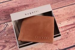 Pánska kožená peňaženka Bugatti 49218207 (11x1,5x9 cm) - cognac #1