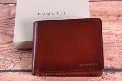 Pánska kožená peňaženka Bugatti 49322907 ( 12x2x10 cm) - cognac
