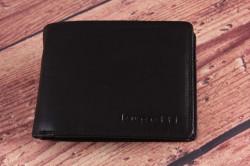 Pánska kožená peňaženka so zipsom Bugatti 49316701 (12,5x2,5x9,5 cm) - čierna