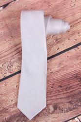 Pánska kravata jemne vzorovaná (š. 6 cm) - bledosivá
