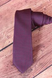 Pánska kravata kockovaná - ružovo-tmavomodrá (š. 6 cm)