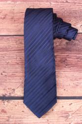Pánska kravata pásikavá - tmavomodrá