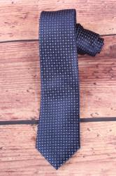 Pánska kravata s modrými kockami - tmavomodrá (š. 6 cm)